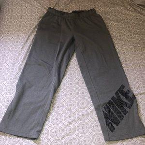 Nike gray therma-fit sweat pants